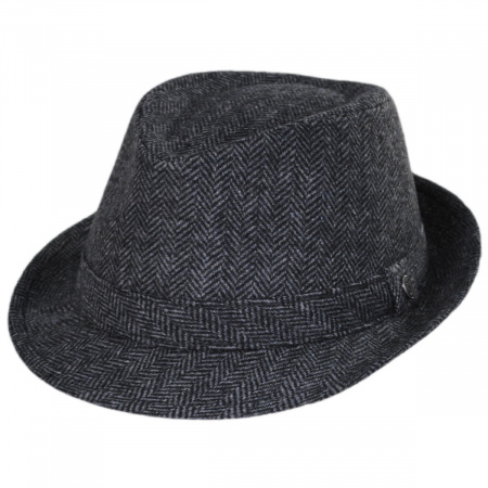 Herringbone Wool Trilby Fedora Hat alternate view 1