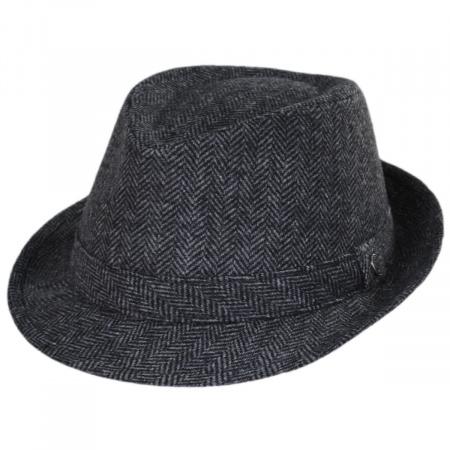 Jaxon Hats Herringbone Wool Trilby Fedora Hat