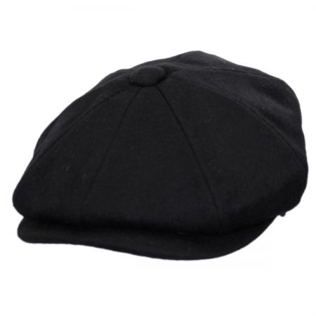 f330205c10339 Black Newsboy Cap at Village Hat Shop