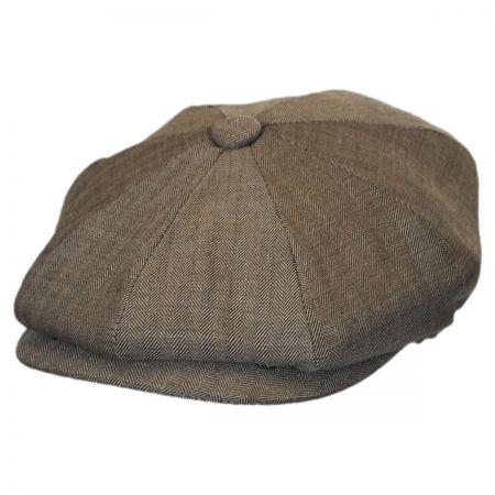 Mini Herringbone Wool Newsboy Cap alternate view 9