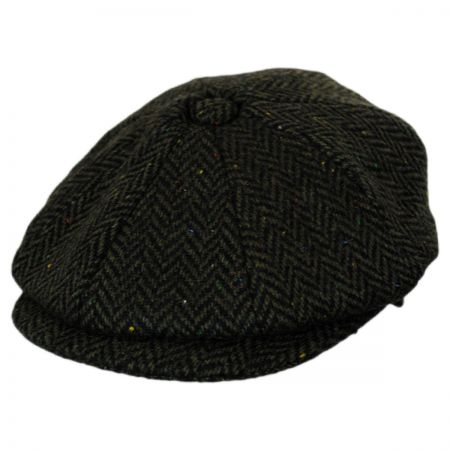 Jaxon Hats Cambridge Herringbone Wool Newsboy Cap