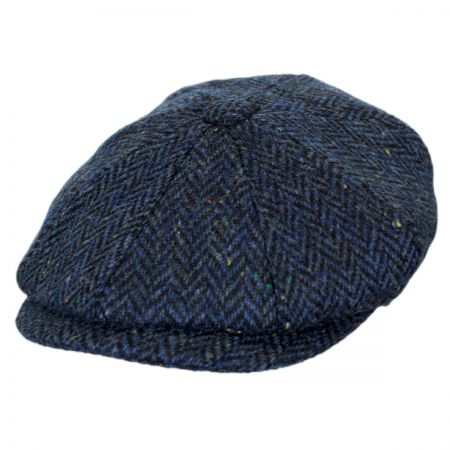 Jaxon Hats Cambridge Herringbone Wool Newsboy Cap
