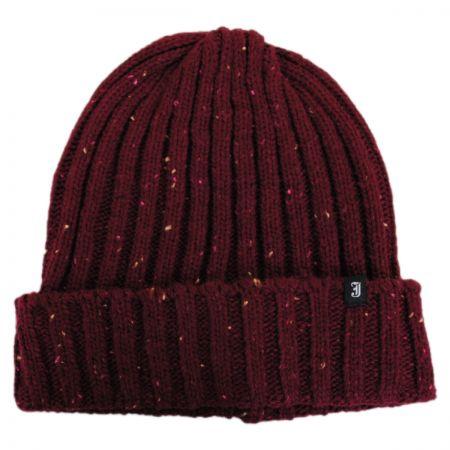Flecked Cuff Knit Beanie Hat