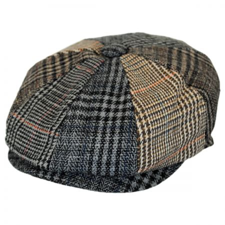 Baby Plaid Patchwork Wool Blend Newsboy Cap alternate view 6