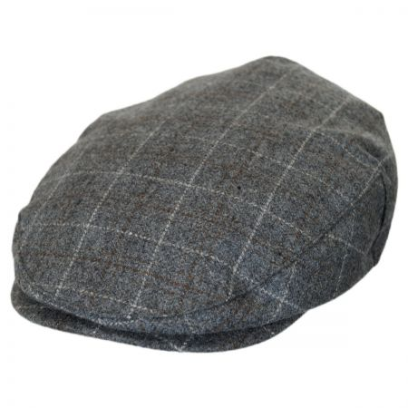 Brixton Hats Hooligan Plaid Wool Blend Ivy Cap - Grey Mix
