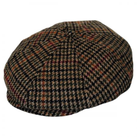 Brixton Hats Brood Chunky Plaid Poly Newsboy Cap