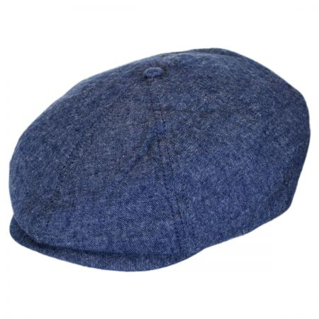 Brixton Hats Brood Cotton Newsboy Cap - Dark Navy