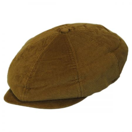 Brixton Hats Brood Toffee Corduroy Poly Newsboy Cap