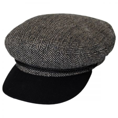 Brixton Hats Herringbone Tweed Wool Blend Fiddler Cap