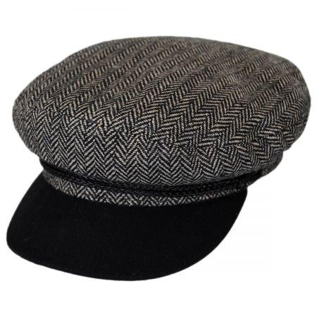 Brixton Hats Herringbone Tweed Wool Blend Fiddler Cap