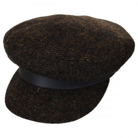 Brixton Hats Tweed Wool Blend Fiddler Cap