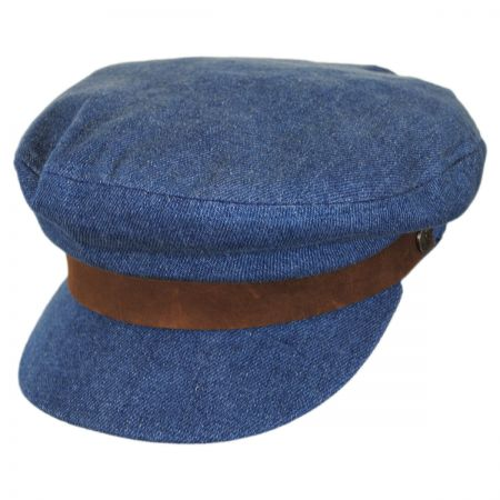Brixton Hats Classic Denim Cotton Fiddler Cap