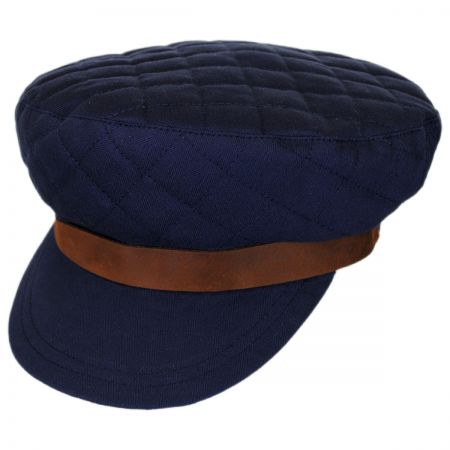 Bent Quilted Cotton Fiddler Cap alternate view 1