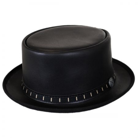 Head 'N Home Folsom Leather Topper Hat