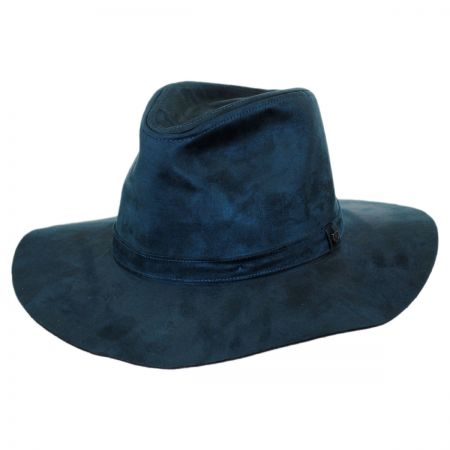 Brixton Hats Highland Faux Suede Floppy Fedora Hat