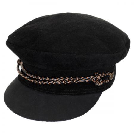 Brixton Hats Kayla Leather Suede Fiddler Cap