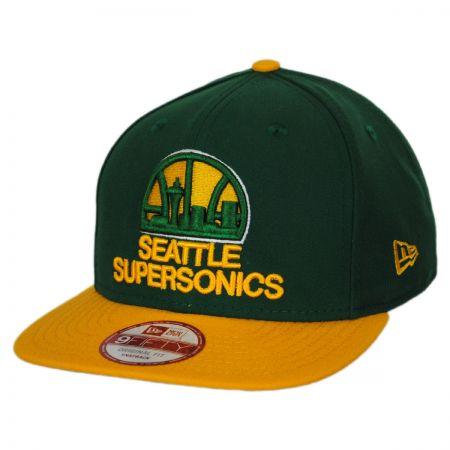 New Era Seattle Supersonics NBA Hardwood Classics 9Fifty Snapback Baseball Cap