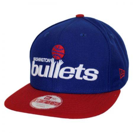 New Era Washington Bullets NBA Hardwood Classics 9Fifty Snapback Baseball Cap