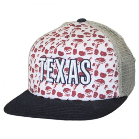 American Needle Texas Grub Trucker Snapback Baseball Cap