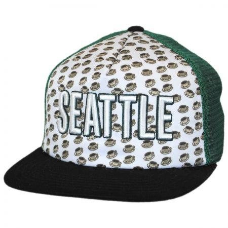 American Needle Seattle Grub Trucker Snapback Baseball Cap