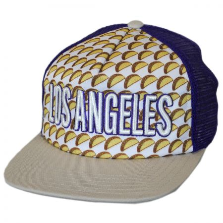 American Needle Los Angeles Grub Trucker Snapback Baseball Cap