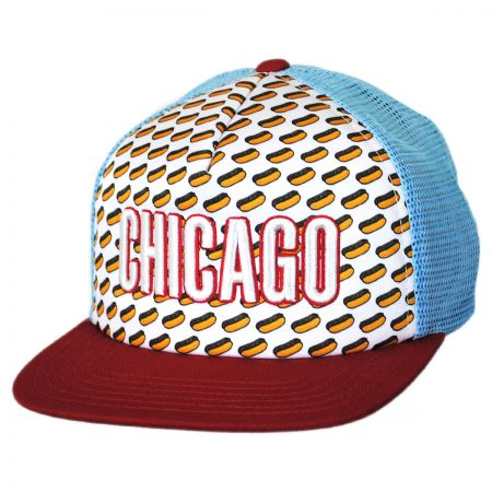 American Needle Chicago Grub Trucker Snapback Baseball Cap