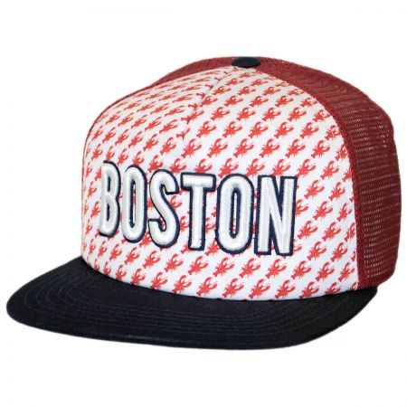 American Needle Boston Grub Trucker Snapback Baseball Cap