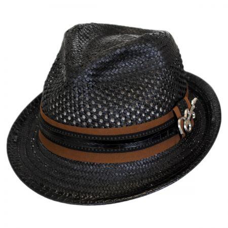 Carlos Santana Mohican Toyo Straw Trilby Fedora Hat