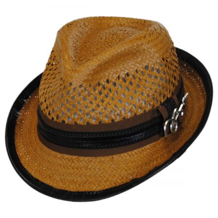 Mohican Toyo Straw Trilby Fedora Hat alternate view 9