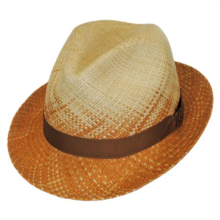 Carlos Santana Spectrum Panama Straw Fedora Hat