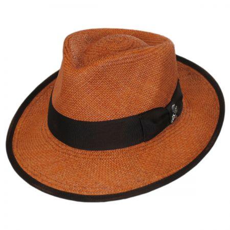 Carlos Santana Bhutan Panama Straw Fedora Hat