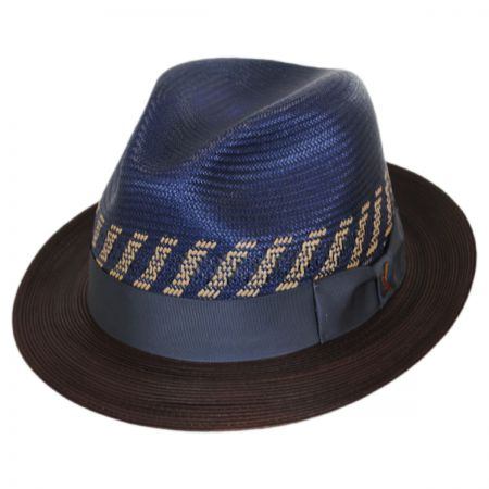 Carlos Santana Brahman Shantung Straw Fedora Hat