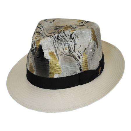 Carlos Santana Luminosity Shantung Straw Fedora Hat