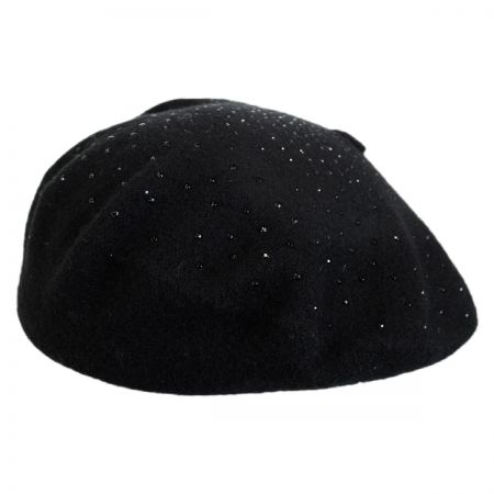 Jeanne Simmons Beaded Wool and Cotton Beret