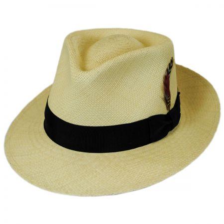 Jaxon Hats Panama Straw Tear Drop Fedora Hat