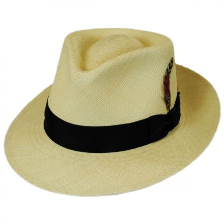 Jaxon Hats Stain Repellent Panama Straw C-Crown Fedora Hat