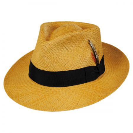 Stain Repellent Panama Straw C-Crown Fedora Hat alternate view 37