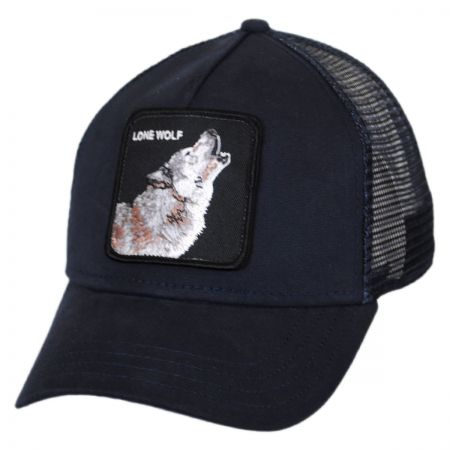 Lone Wolf Mesh Trucker Snapback Baseball Cap alternate view 1
