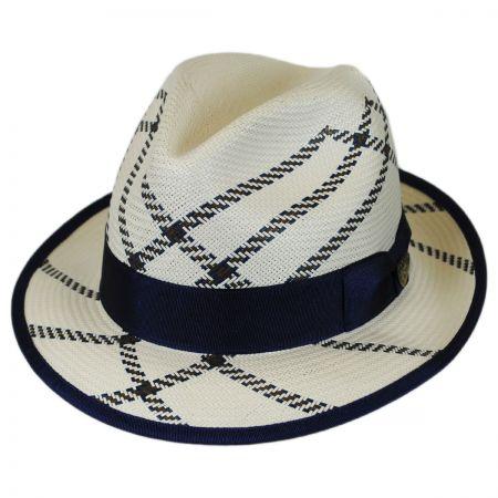 Dobbs Rialto Shantung Straw Trilby Fedora Hat