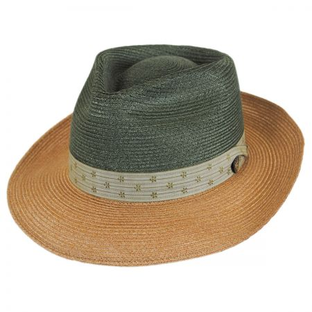 Dobbs Valencia Two-Tone Hemp Straw Fedora Hat
