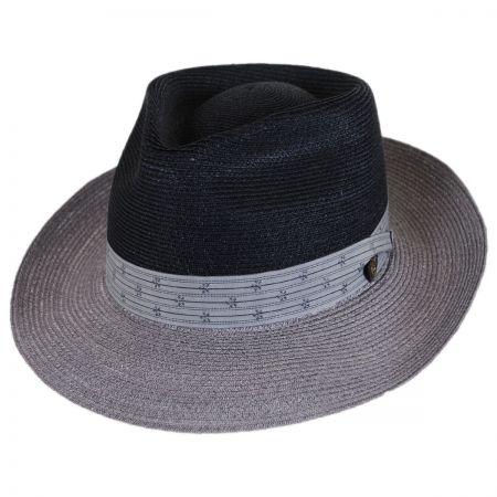 Valencia Two-Tone Hemp Straw Fedora Hat