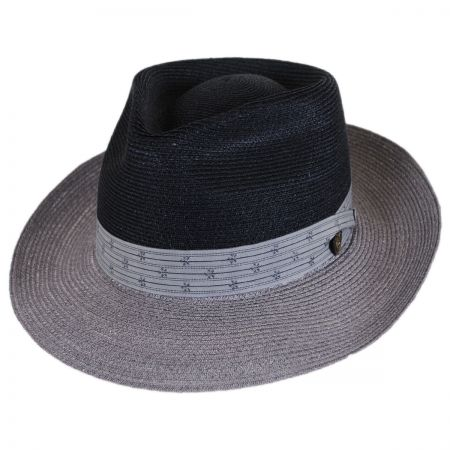 Valencia Two-Tone Hemp Straw Fedora Hat alternate view 25