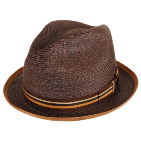 Dobbs Sazerac Hemp Straw Trilby Fedora Hat
