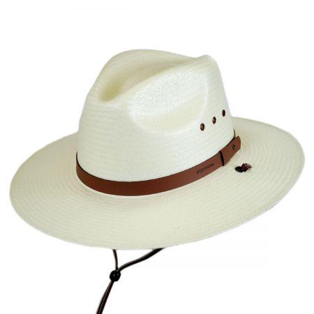 Stetson Banyon Palm Leaf Straw Safari Fedora Hat