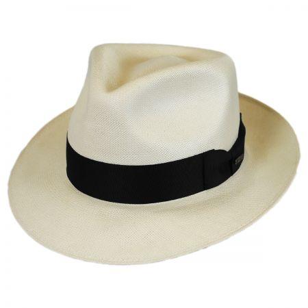 Stetson Adventurer Shantung Straw Tear Drop Fedora Hat