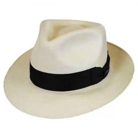 Stetson Adventurer Shantung Straw Tear Drop Fedora Hat
