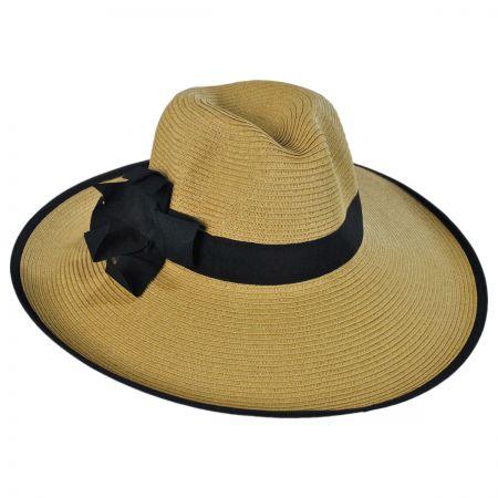 Toyo Straw Wide Brim Fedora Hat alternate view 1