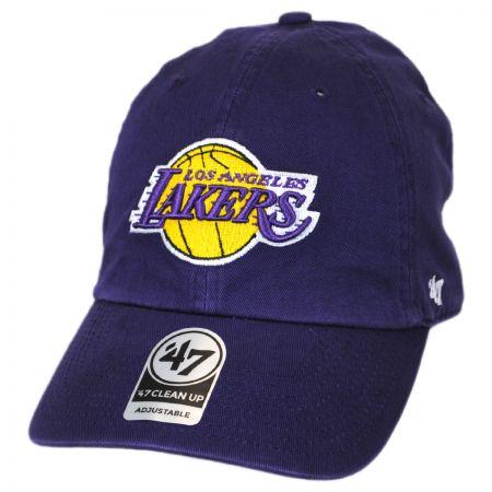 47 Brand Los Angeles Lakers NBA Clean Up Strapback Baseball Cap Dad Hat