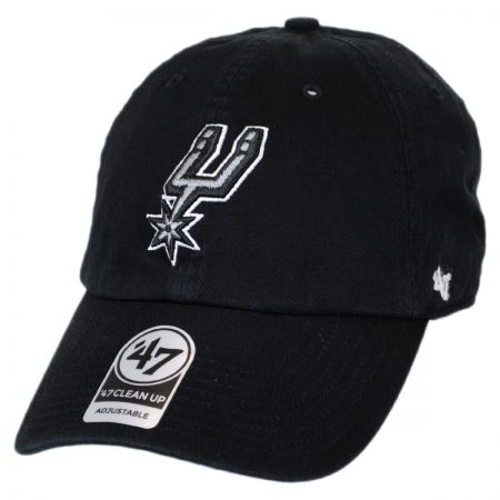 47 Brand San Antonio Spurs NBA Clean Up Strapback Baseball Cap