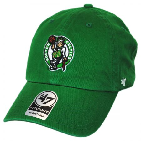 Boston Celtics NBA Clean Up Strapback Baseball Cap Dad Hat alternate view 1